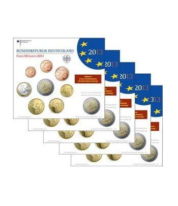 Cartera oficial euroset Alemania 2013 (5 cecas).  - 1