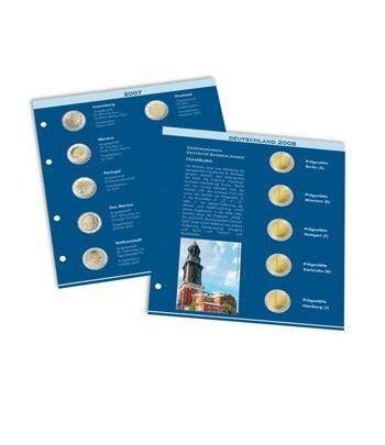 LEUCHTTURM Numis hoja preimpresa monedas de 2 Euros 2012/2013 Album Monedas Euro - 2