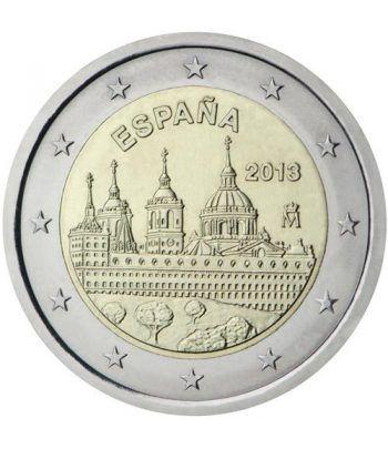 moneda conmemorativa 2 euros España 2013 Escorial.  - 2