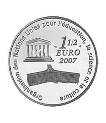 Moneda Francia 1 1/2 euro 2007 Unesco Muralla china  - 1