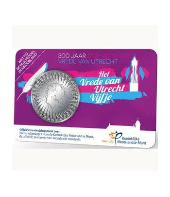Holanda 5 Euros 2013. 300 Años de la Paz de Utrech.  - 1