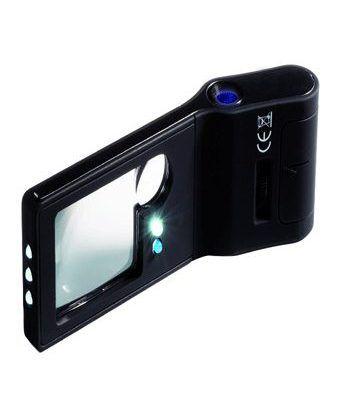 LEUCHTTURM Lupa de bolsillo 6 en 1 con microscopio 15 aumentos Lupas - 2