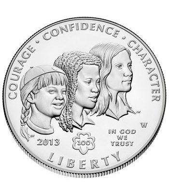 Moneda de Plata Estados Unidos 1$ Centenario Girl Scouts 2013.  - 1