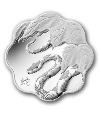 Moneda de plata 15$ Canada Serie Lotus Serpiente 2013  - 1
