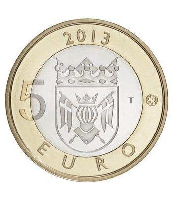 moneda Finlandia 5 Euros 2013 Finlandia Genuina.  - 1