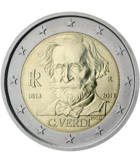 moneda conmemorativa 2 euros Italia 2013. Verdi.  - 2