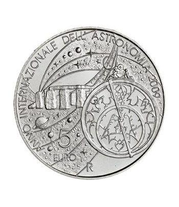 San Marino 5 Euros 2009.  Astronomía. Plata.  - 1