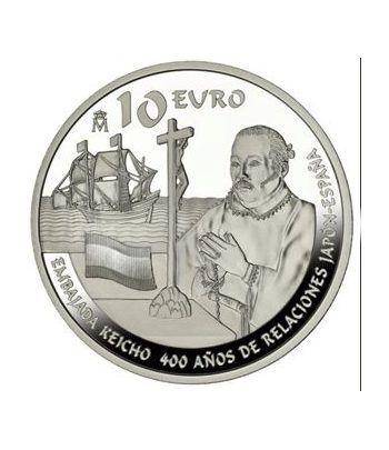 Moneda 2013 400 años de relaciones Japón-España. 10 euros. Plata  - 1