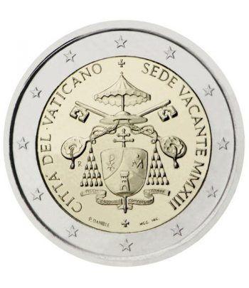 moneda conmemorativa 2 euros Vaticano 2013 Sede Vacante  - 2