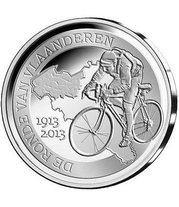 moneda Belgica 10 Euros 2013 Tour de Flandes. Estuche proof.  - 1