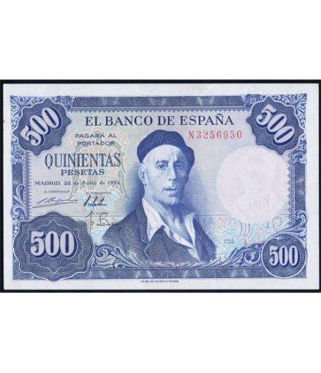 (1954/07/22) Madrid. 500 Pesetas. SC.  - 1