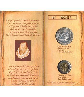 Cartera oficial euroset 12 Euros España 2005 + 2€ (Quijote).  - 1