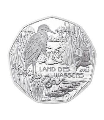 moneda Austria 5 Euros 2013 (nueve esquinas) Tierra Agua. Plata.  - 1