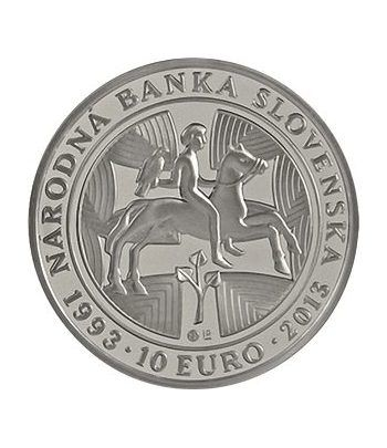 moneda Eslovaquia 10 Euros 2013. 20º Aniv. Banco Nacional.  - 1
