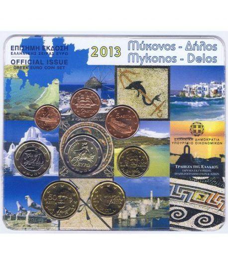 Euroset oficial de Grecia 2013 dedicada a Mykonos y Delos  - 2