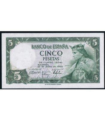 (1954/07/22) Madrid. 5 Pesetas. SC.  - 2
