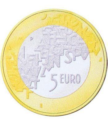 moneda Finlandia 5 Euros 2006 (Presidencia Consejo U.E.).  - 1