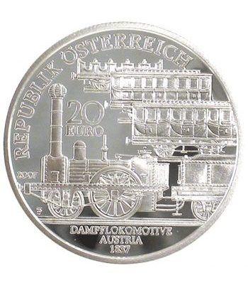 moneda Austria 20 Euros 2007 Trenes austriacos (sin estuche)  - 1