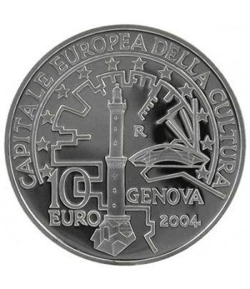 Italia 10 Euros 2004 Genova capital cultura. Sin estuche.  - 1