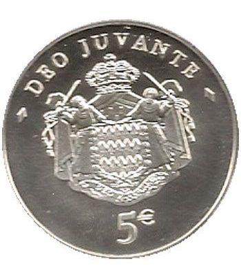 Monaco 5 euros 2008. Principe Alberto II. Plata. Sin estuche.  - 1