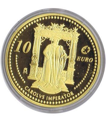 Moneda 2006 Carlos V. Personajes Europeos. 10 euros. Baño oro  - 4