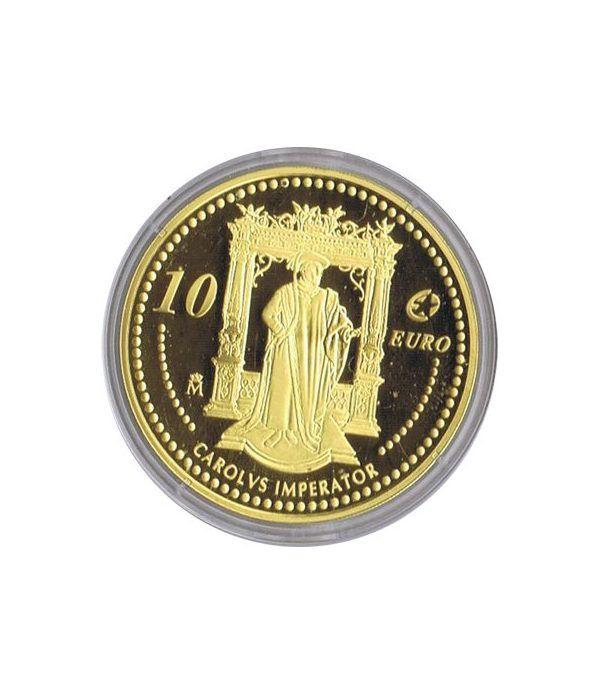 Moneda 2006 Carlos V. Personajes Europeos. 10 euros. Baño oro  - 1