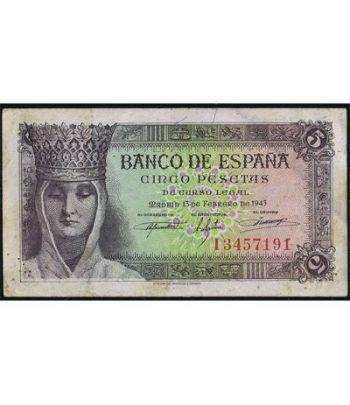 (1943/02/13) Madrid. 5 Pesetas. EBC.  - 1