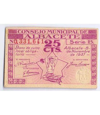 (1937/11/08) 25 cts. Consejo Municipal de Albacete. SC  - 1