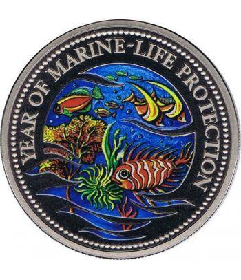 Palau 1$ 1992 Año Protección Vida Marina color. Cuproníquel.  - 1