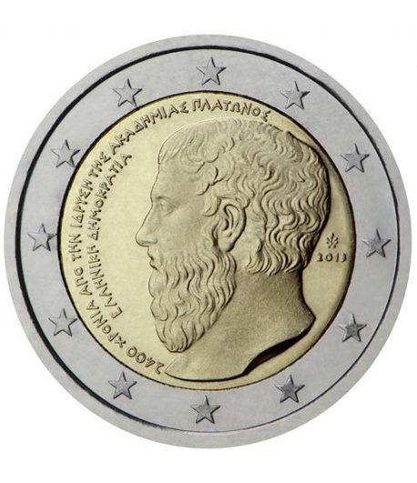 moneda conmemorativa 2 euros Grecia 2013. Platón.  - 2