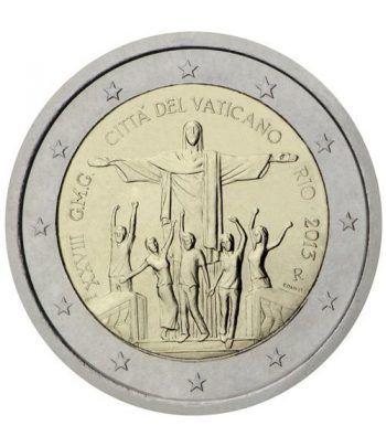 moneda conmemorativa 2 euros Vaticano 2013. Estuche Oficial.  - 2