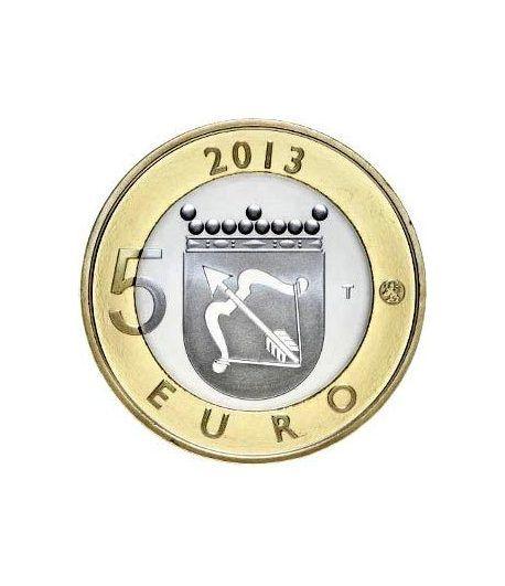 moneda Finlandia 5 Euros 2013 Savonia.  - 1