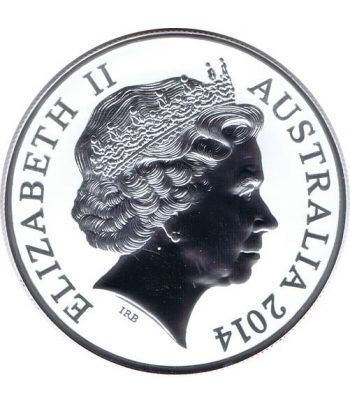 Moneda onza de plata 1$ Australia Canguro 2014  - 2