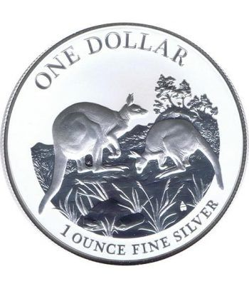 Moneda onza de plata 1$ Australia Canguro 2014  - 4
