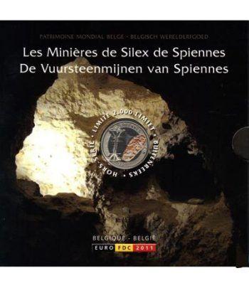 Cartera oficial euroset Belgica 2011. Medalla color.  - 1