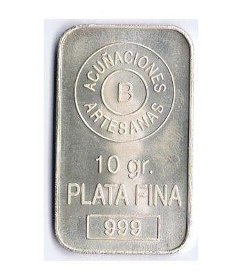 Lingote de plata pura de 10gr.  - 2