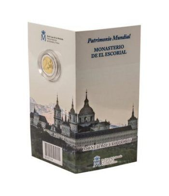 Cartera oficial euroset 2 Euros España 2013 El Escorial. Proof.  - 1