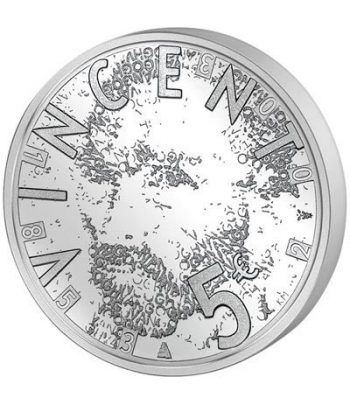 Holanda 5 Euros 2003 Van Gogh. Plata Proof.  - 1