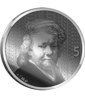 Holanda 5 Euros 2006 400 Aniversario Rembrandt. Plata Proof.  - 1