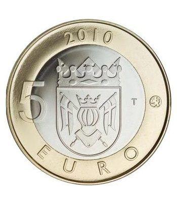 moneda Finlandia 5 Euros 2010 (1ª) Cartera proof  - 6