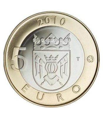 moneda Finlandia 5 Euros 2010 (1ª) Cartera proof  - 1