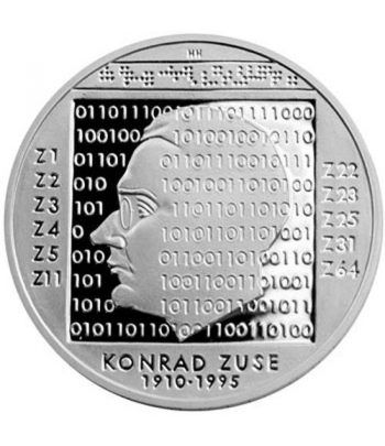 moneda Alemania 10 Euros 2010 G. Konrad Zuse. Proof.  - 1