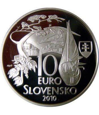 moneda Eslovaquia 10 Euros 2010 Martin Kukucin  - 1