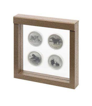Lindner Marco para objetos NIMBUS 150x150 Diseño color madera.  - 1