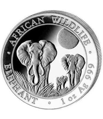 Moneda onza de plata 100 Shilling Somalia Elefante 2014  - 1