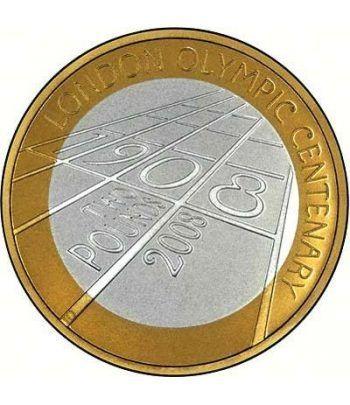 Inglaterra 2 Libras 2008 100 Aniversario London 1908. Plata.  - 6
