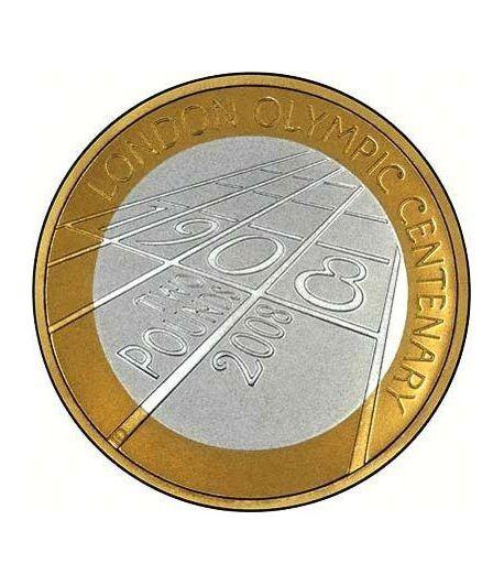 Inglaterra 2 Libras 2008 100 Aniversario London 1908. Plata.  - 1