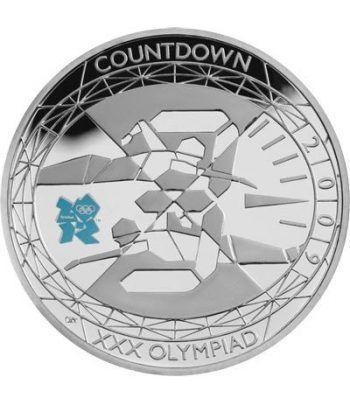 Inglaterra 5 Libras 2009 Olimpiadas London 2012. Plata.  - 1