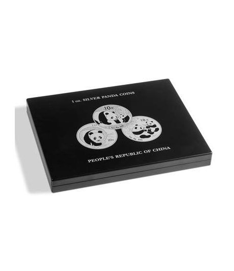 LEUCHTTURM Estuche de madera para 20 monedas PANDA.  - 1