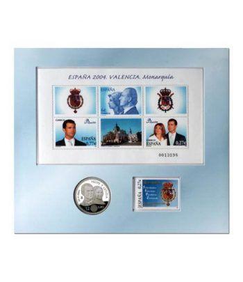 Edicion conjunta Boda Real 2004, 12 euros, Hojita  y sello.  - 2